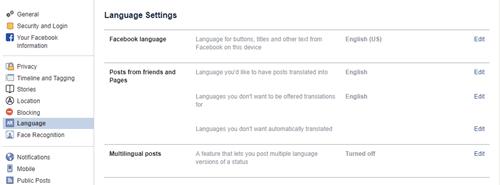 Spracheinstellungen