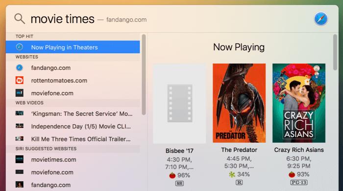 Spotlight-Mac-Film-Zeiten finden