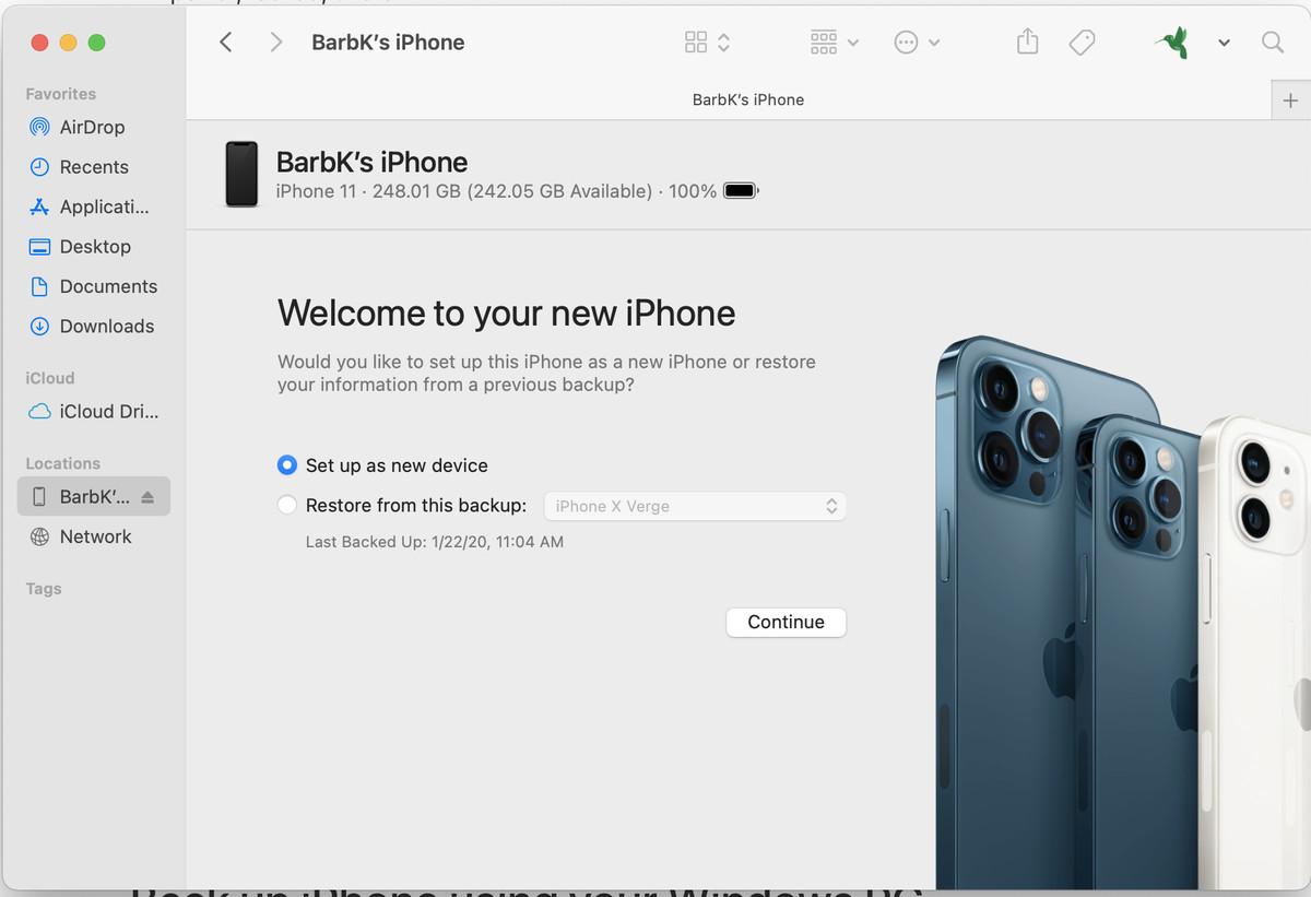 Sie können die Daten eines Telefons wiederherstellen, wenn Sie sie auf Ihrem Computer gesichert haben.