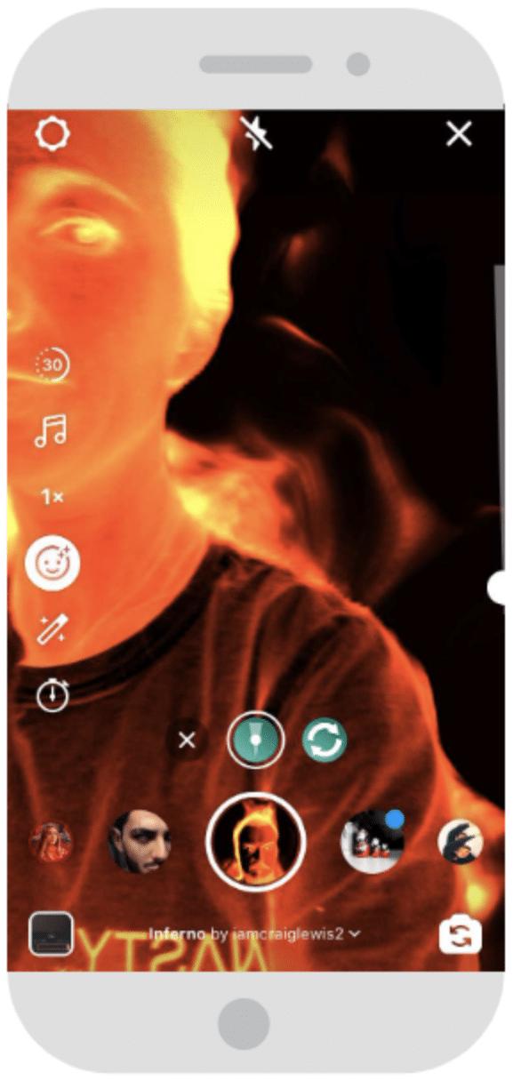 Instagram Reels AR-Filter