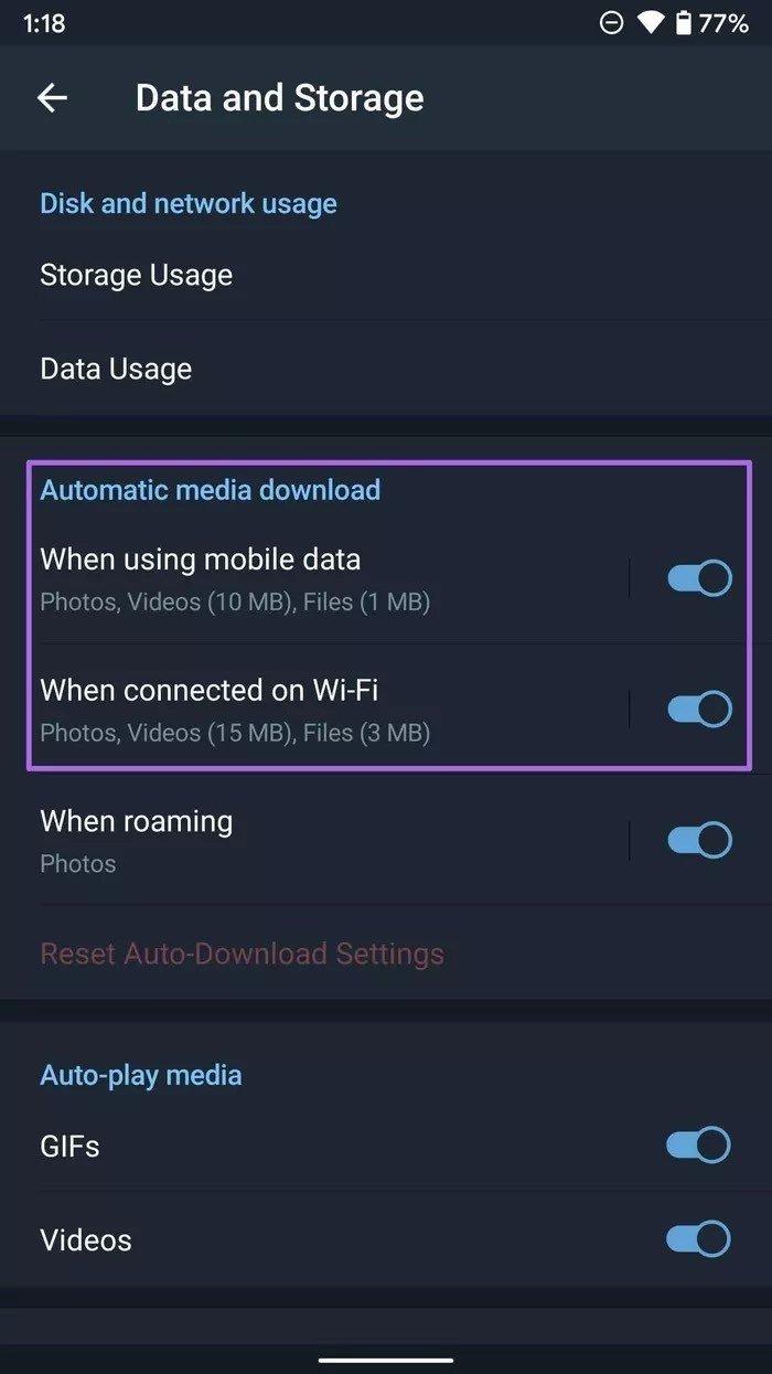 Automatischer Mediendownload auf Android