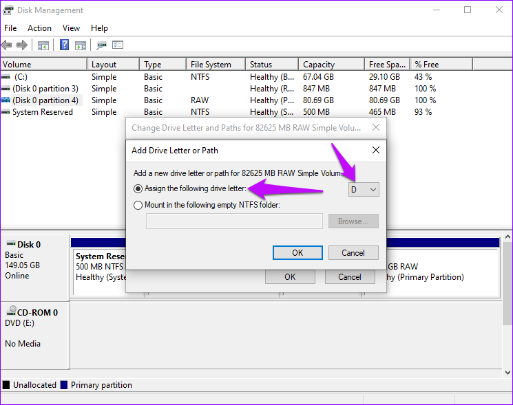 Diesen Laufwerksbuchstaben zuweisen Windows 10