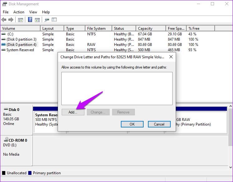 Laufwerksbuchstaben und Pfad hinzufügen Windows 10