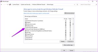 Datei- und Druckerfreigabe windows Defender
