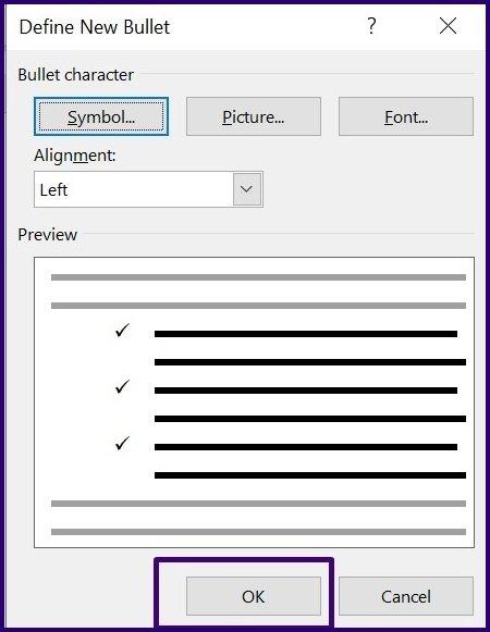 Tick-Symbole in Microsoft Word Schritt 22 einfügen