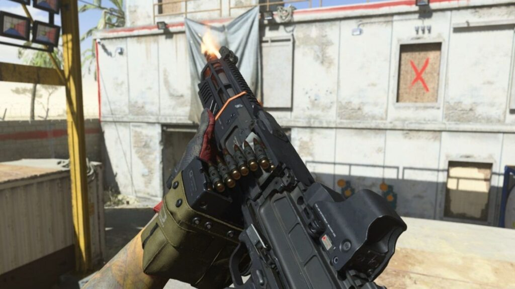 Spieler schaut sich FiNN LMG in Warzone an