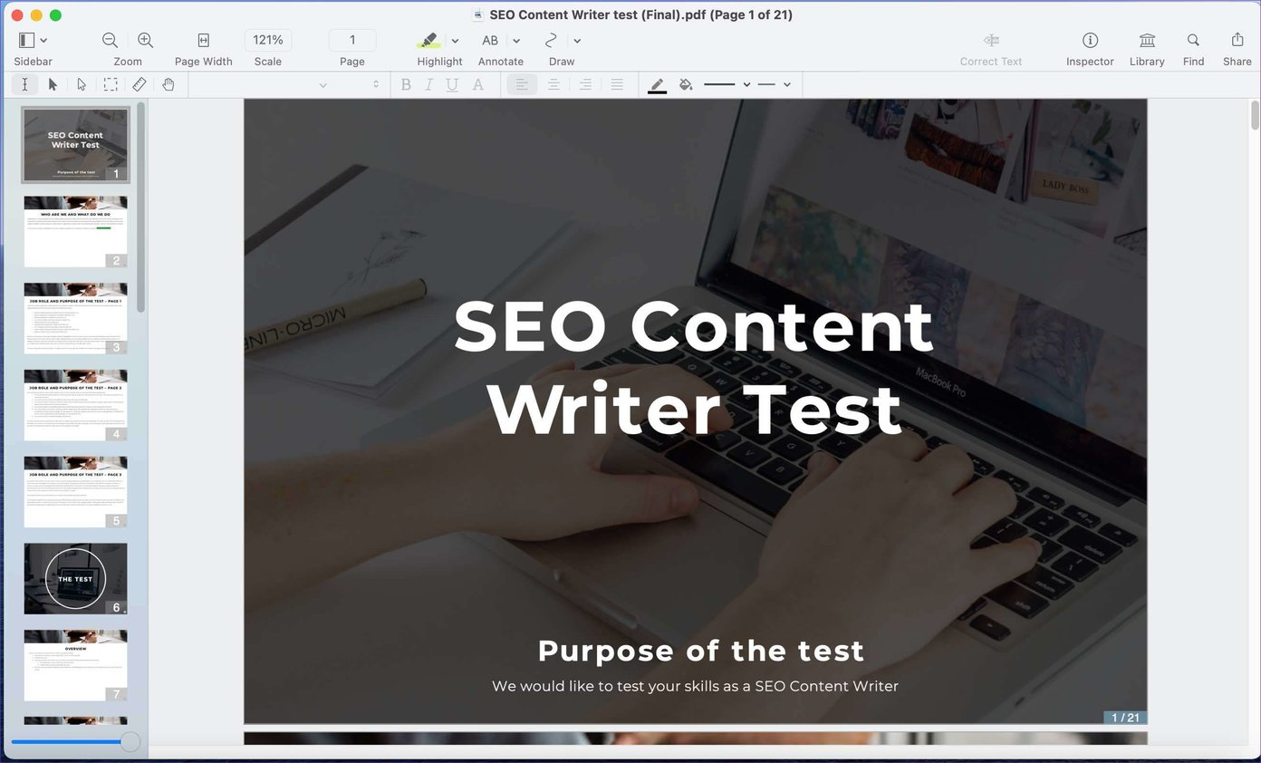 PDF für Mac