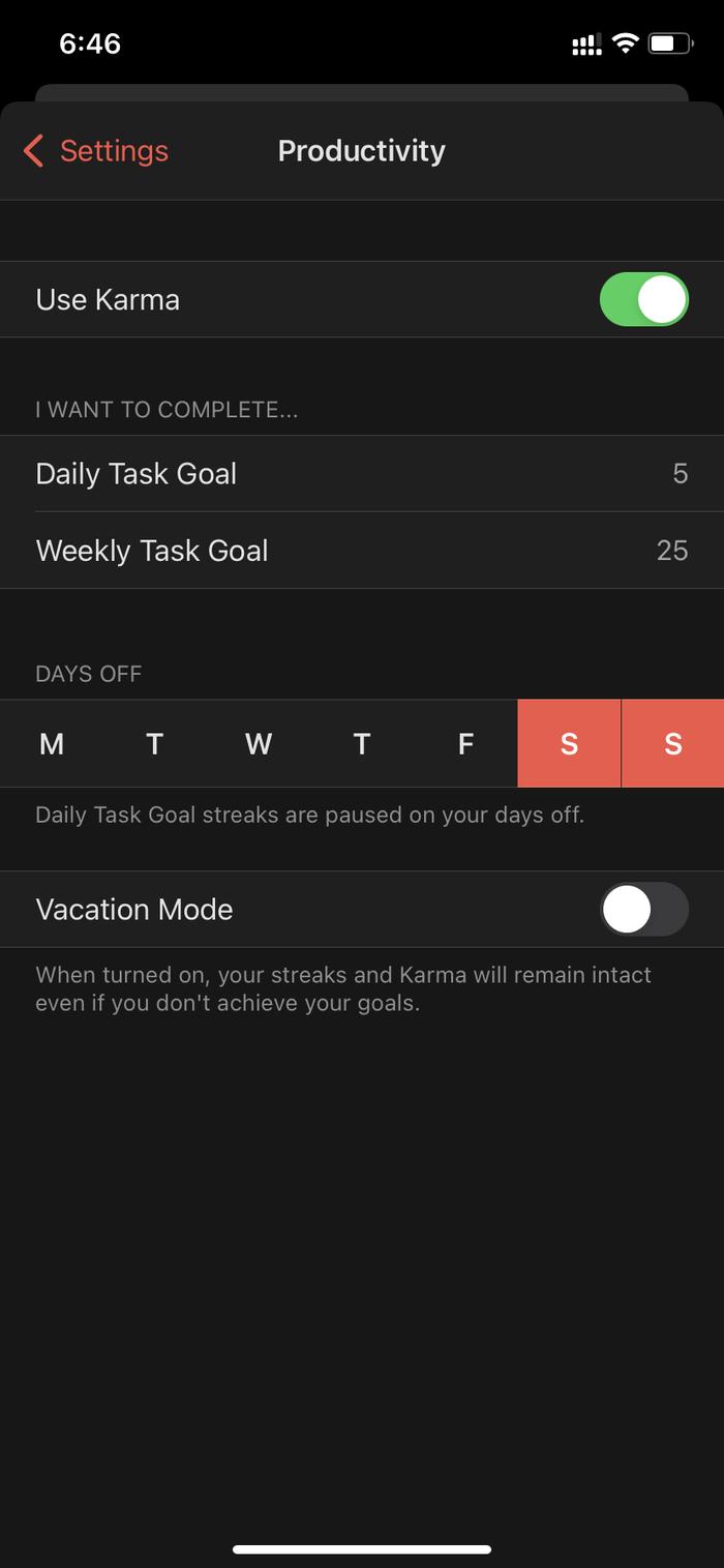 Todoist-Produktivität