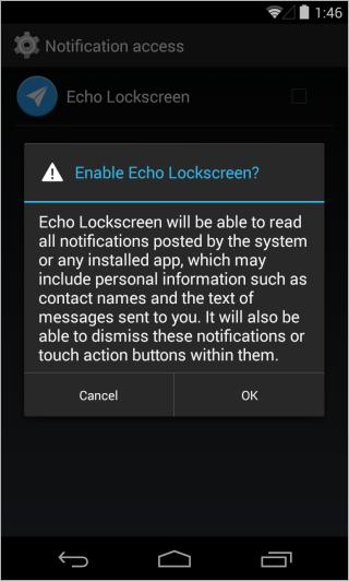 Echo Lockscreen_Enable