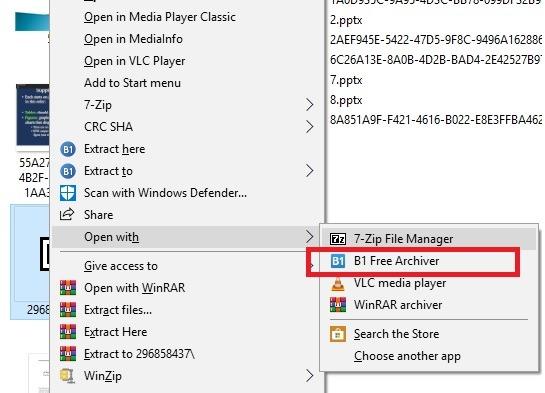 Öffnen Sie Rar-Dateien B1