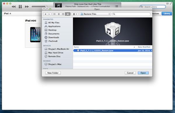Downgrade-iOS8-auf-iOS7-Select-IPSW