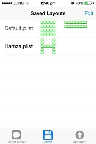 HomeScreenDesigner iOS-Layout