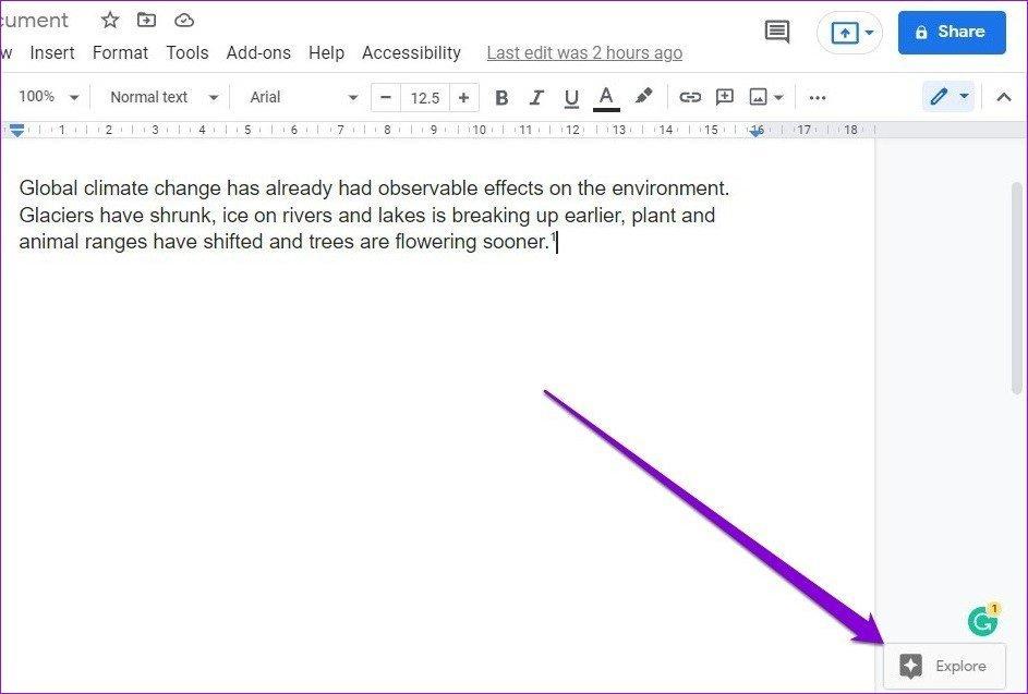 Entdecken Sie das Tool in Google Docs