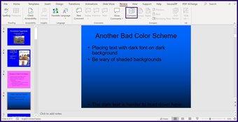 Verfolgen Sie Änderungen in Microsoft Powerpoint Schritt 3