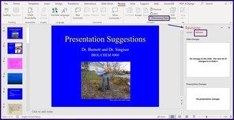Verfolgen Sie Änderungen in Microsoft Powerpoint Schritt 6
