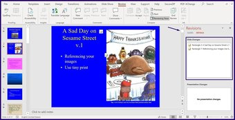 Verfolgen Sie Änderungen in Microsoft Powerpoint Schritt 7