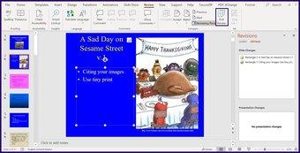 Verfolgen Sie Änderungen in Microsoft Powerpoint Schritt 10