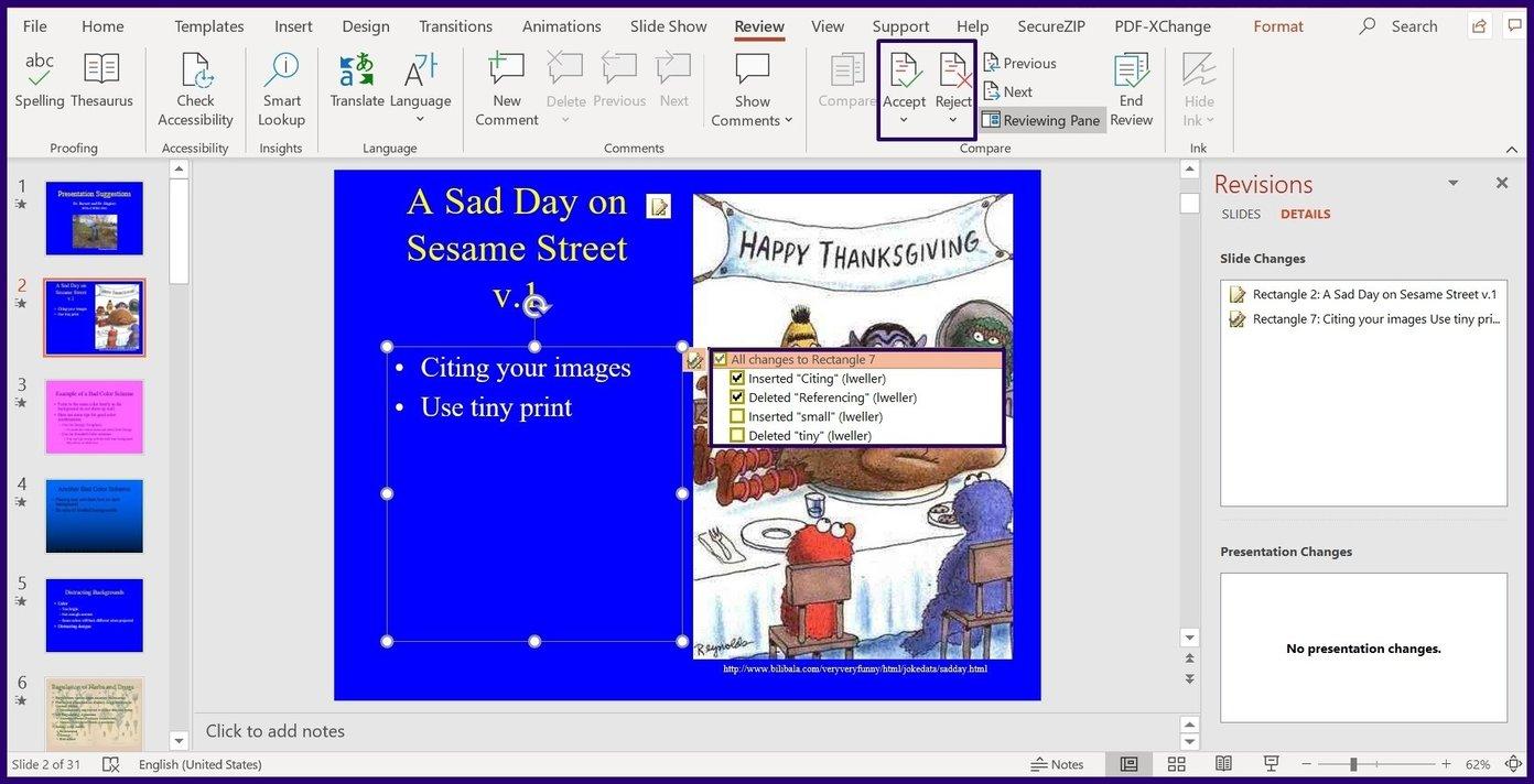 Verfolgen Sie Änderungen in Microsoft Powerpoint Schritt 9