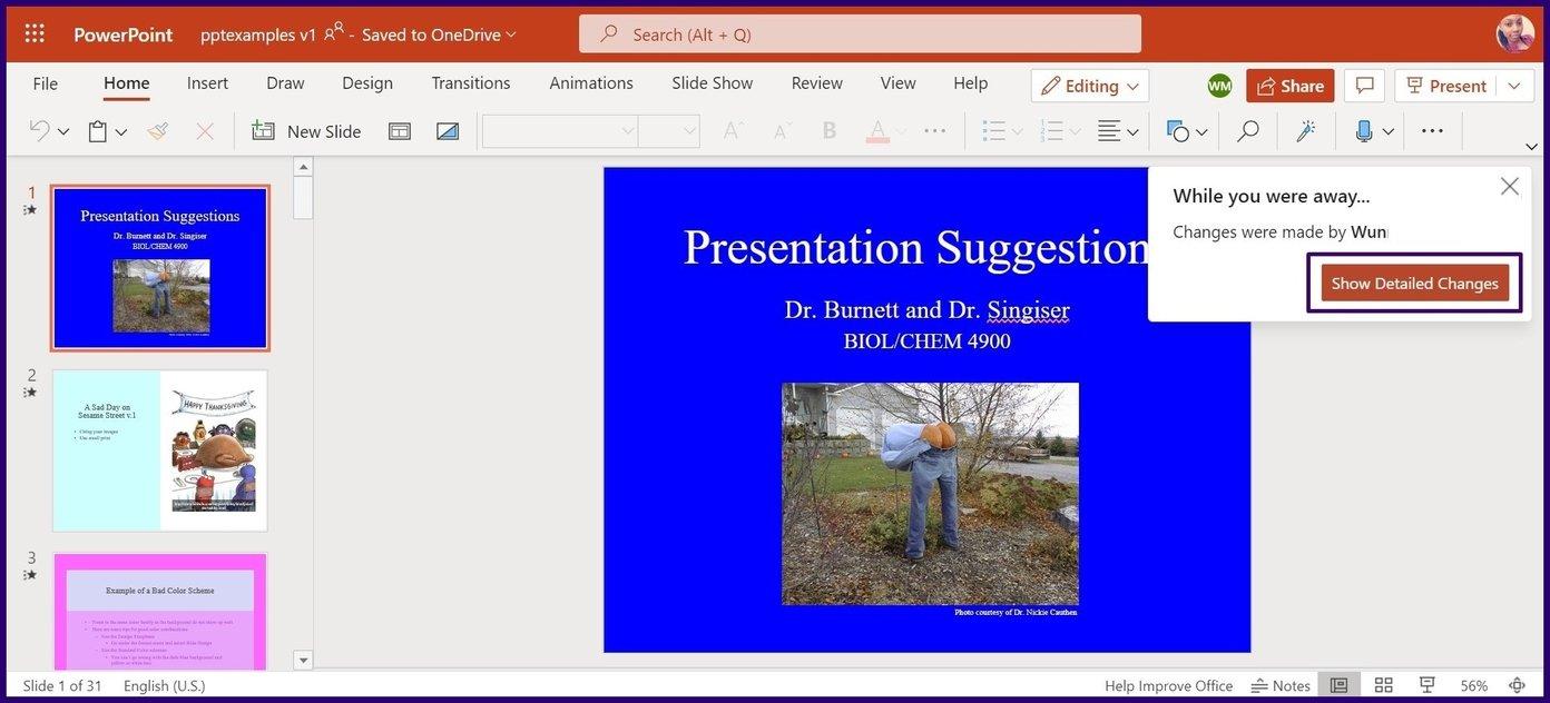 Verfolgen Sie Änderungen in Microsoft Powerpoint Schritt 12