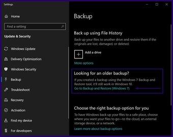 Löschen Sie alte Sicherungsdateien Windows 10 Schritt 2