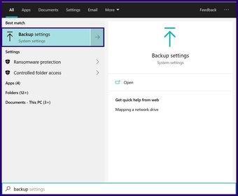 Löschen Sie alte Sicherungsdateien Windows 10 Schritt 1