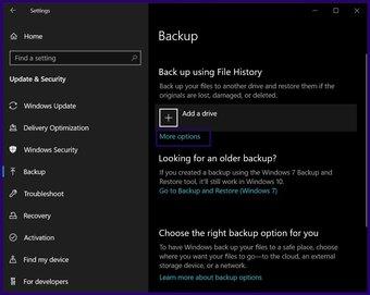 Löschen Sie alte Sicherungsdateien Windows 10 Schritt 6