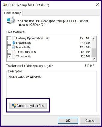 Löschen Sie alte Sicherungsdateien Windows 10 Schritt 14