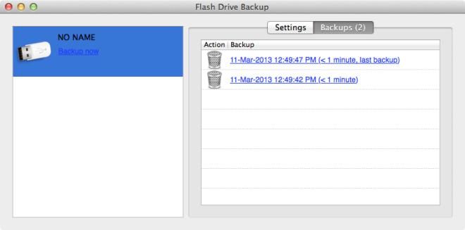 Backups von Flash-Laufwerken
