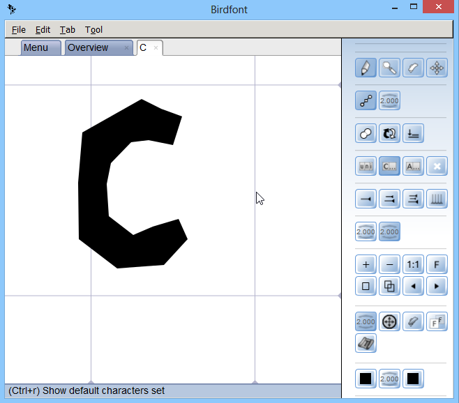 BirdFont_New Font_Font Character_C_Draw_Done
