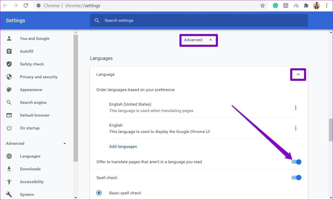 Aktivieren Sie die automatische Übersetzungsfunktion in Google Chrome