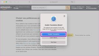 Aktivieren Sie die Übersetzungsfunktion in Safari für Mac