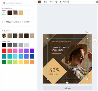 Farben in Leinwand hinzufügen
