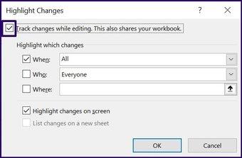 Verfolgen Sie Änderungen in Microsoft Excel Schritt 18
