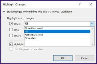 Verfolgen Sie Änderungen in Microsoft Excel Schritt 19