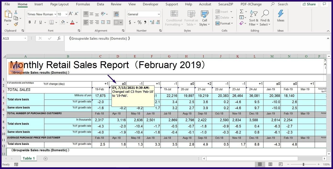 Verfolgen Sie Änderungen in Microsoft Excel Schritt 23