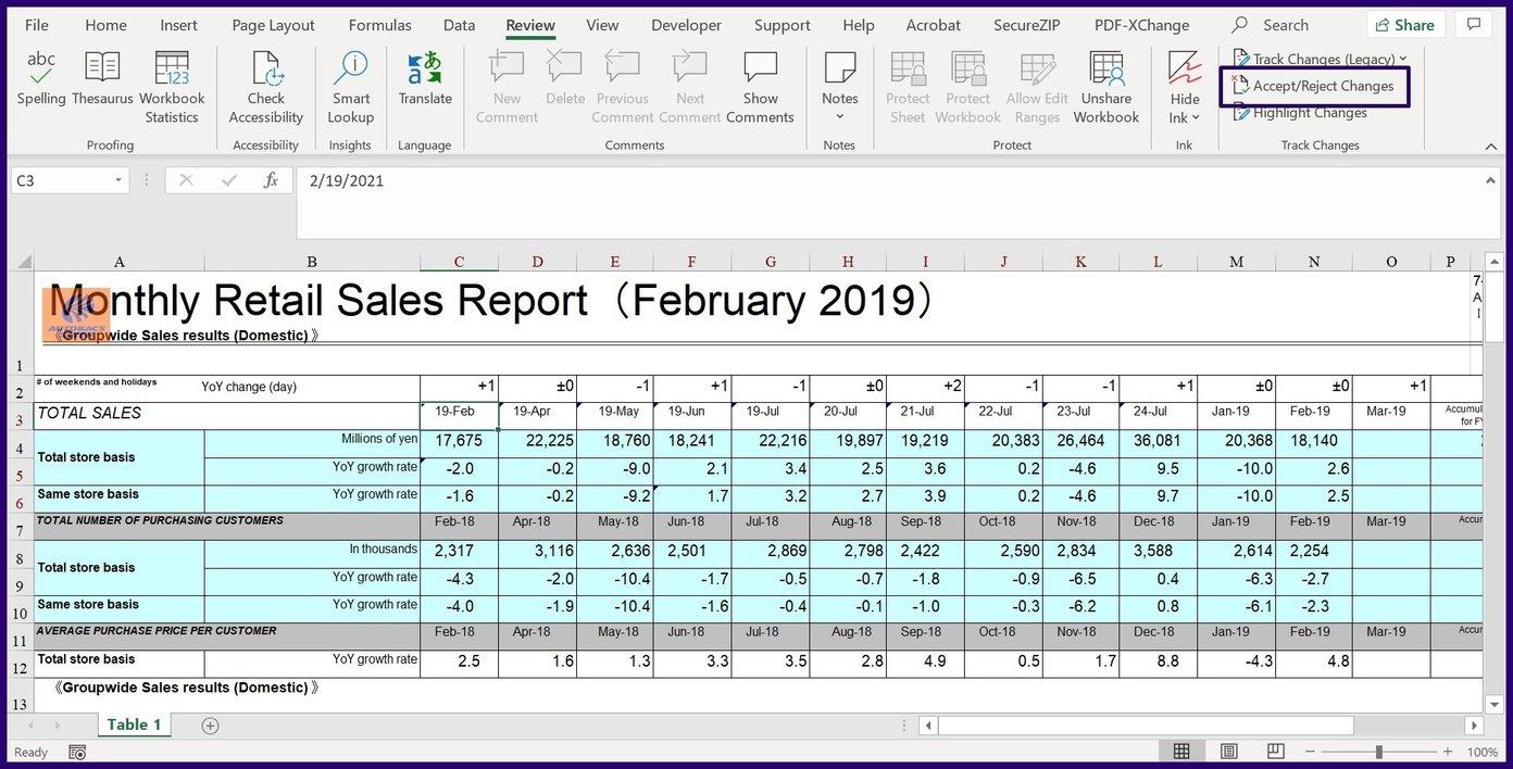 Verfolgen Sie Änderungen in Microsoft Excel Schritt 25