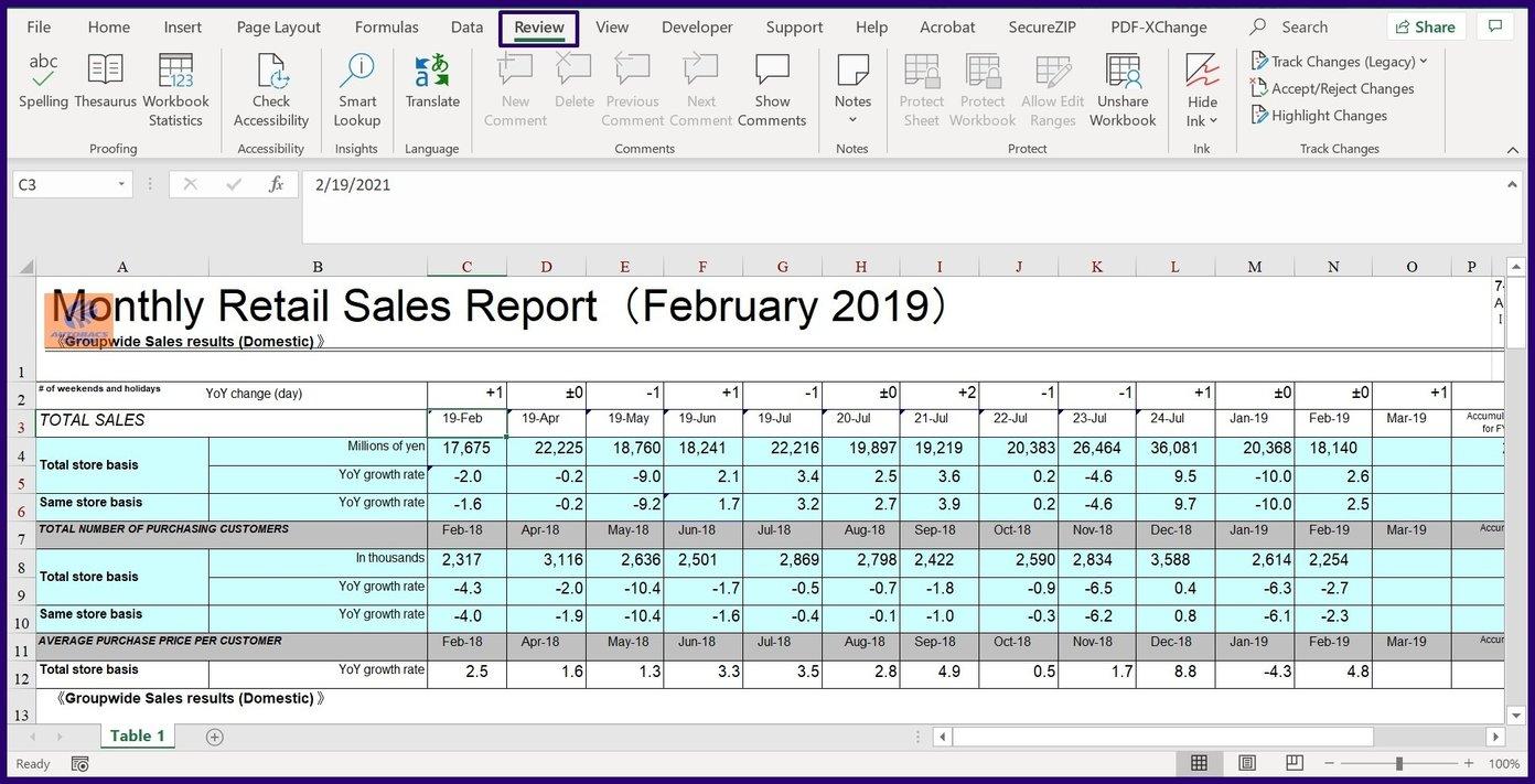 Verfolgen Sie Änderungen in Microsoft Excel Schritt 24