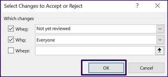 Verfolgen Sie Änderungen in Microsoft Excel Schritt 27