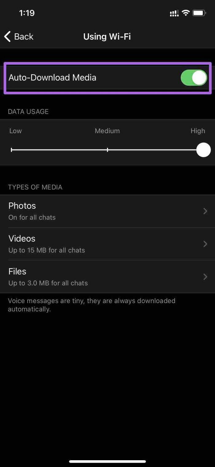 Deaktivieren Sie den automatischen Medien-Download