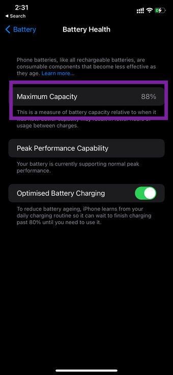 Akkuzustand auf dem iPhone