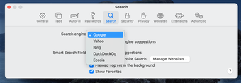 Suchmaschine in Safari ändern