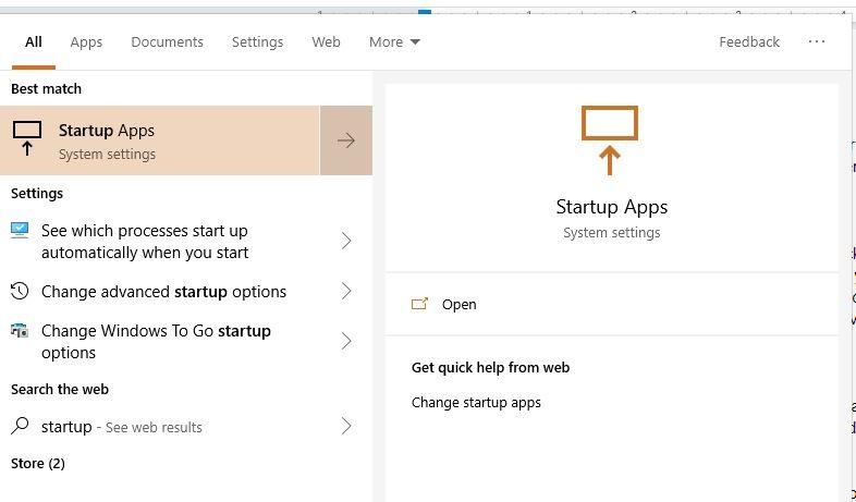 Slow Startup-Programme suchen nach Startup-Apps