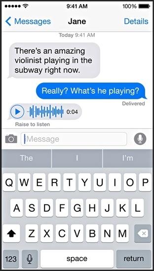 iOS8-Nachrichten-Sprache
