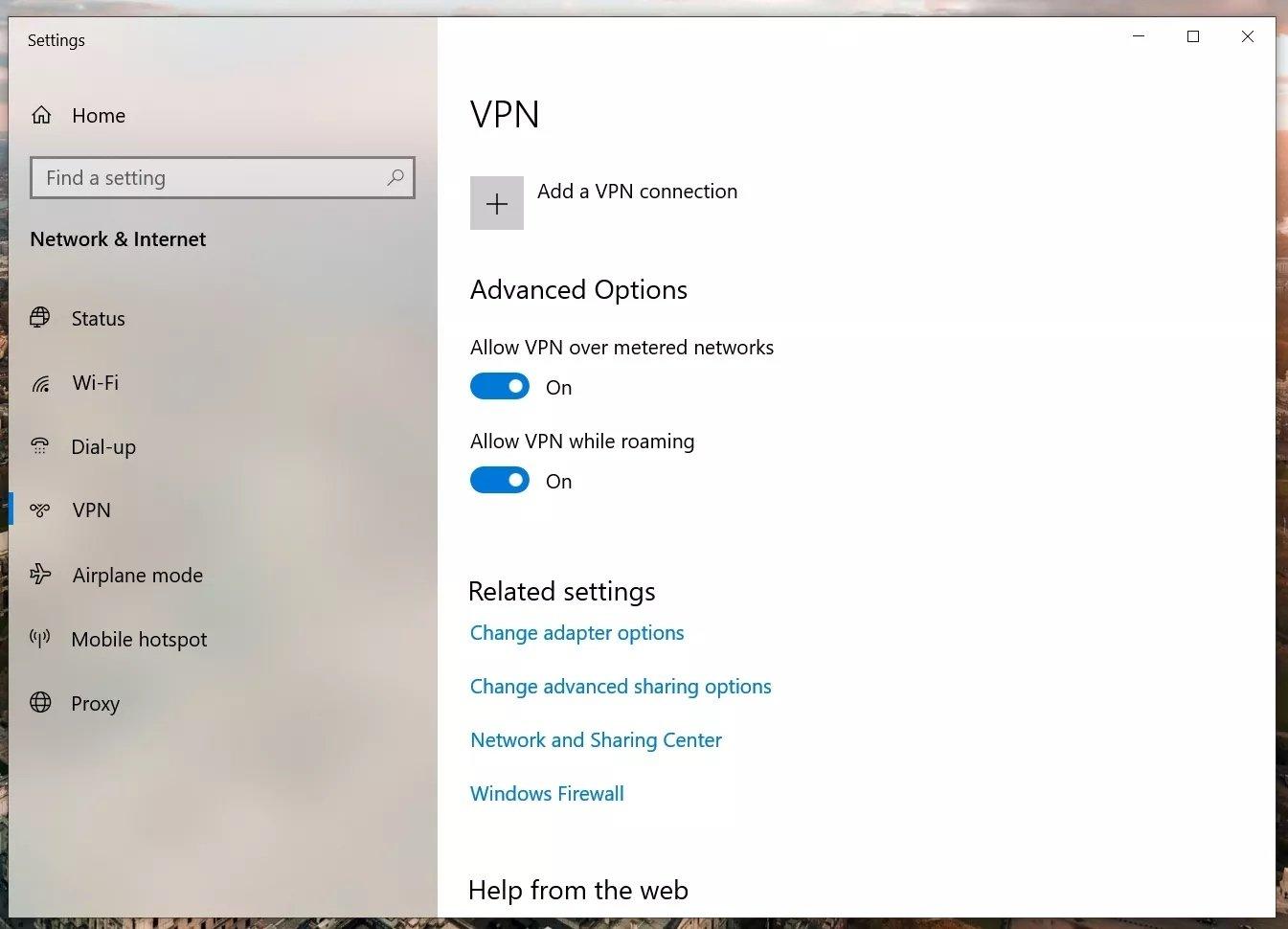 VPN deaktivieren