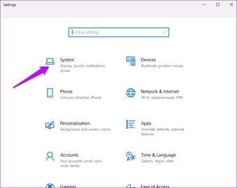 Windows-Einstellungssystem