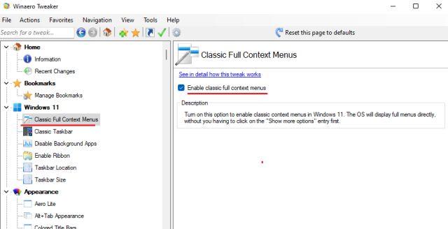 Holen Sie sich das alte Kontextmenü unter Windows 11 (2021)