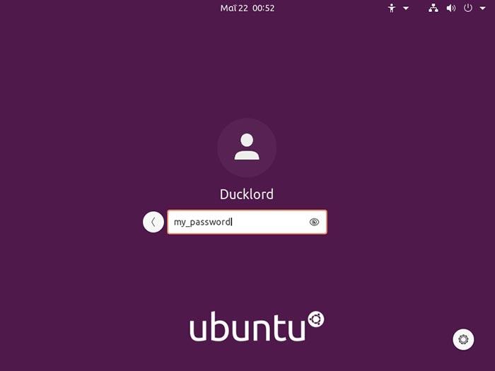 Ubuntu 2004 Überprüfung sichtbarer Passwörter