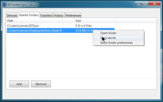BitTorrent Sync-Kopiergeheimnis